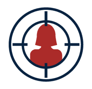 Girl in crosshairs icon